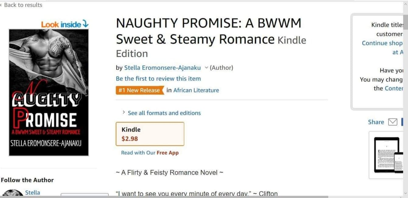🔥🔥🔥🔥NAUGHTY PROMISE was Amazon #1 New Release!🔥🔥🔥🔥