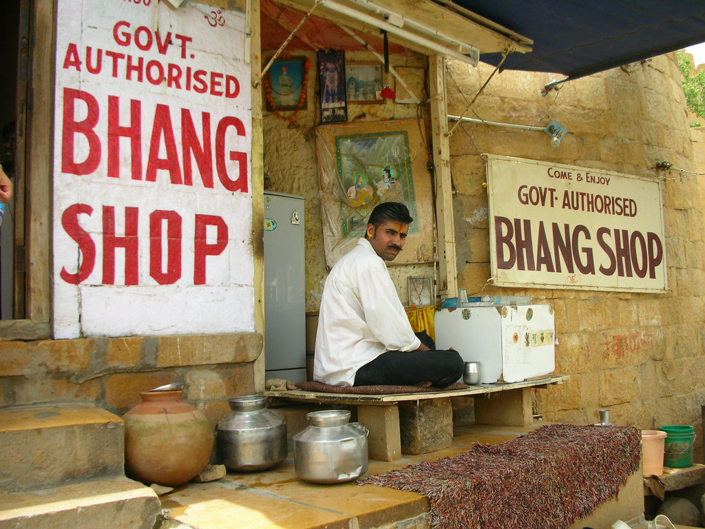 Government Authorized Bhang Shop from Stoner Living as featured in Anthony Bourdain's No Reservations
