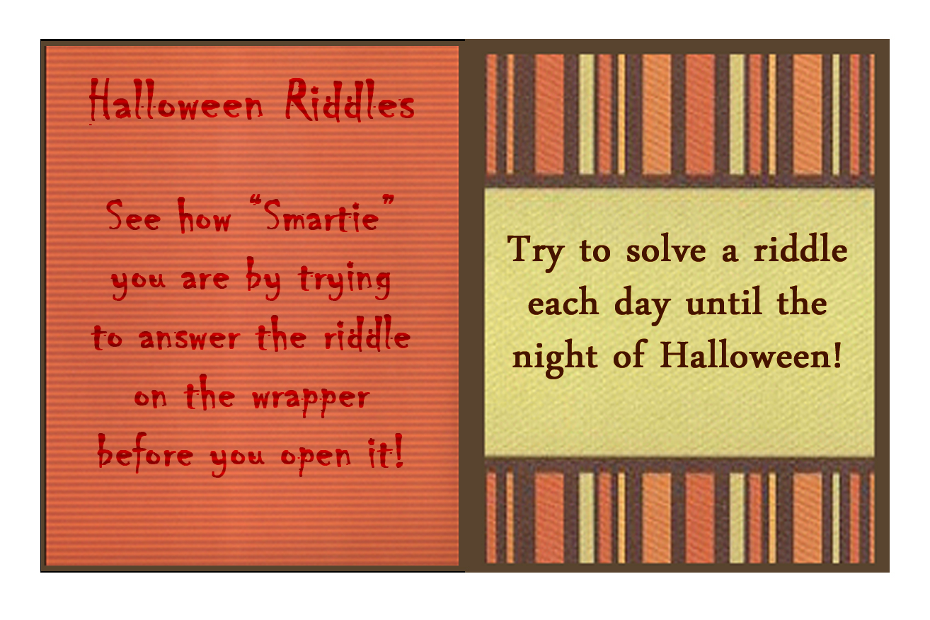 Ink Rust and Sawdust: Halloween Smarties Riddle Box