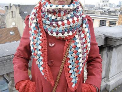 free crochet pattern granny stripe shawl