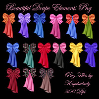 Beautiful drape elements png tubes