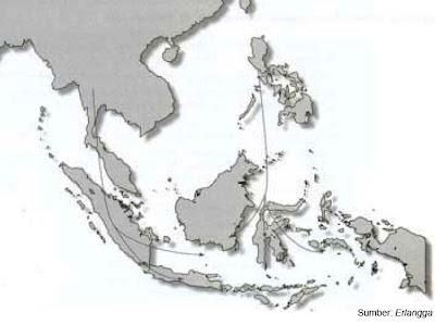 Peta persebaran bangsa Proti dan Deutro Melayu melalui dua rute: air dan darat.