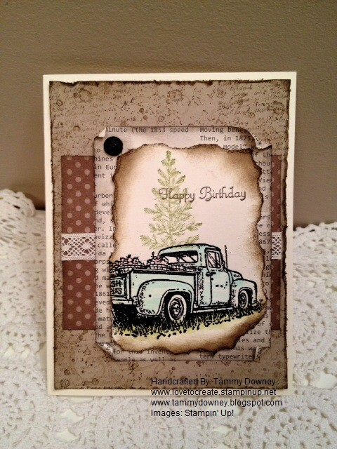 vintage masculine birthday card for the guys