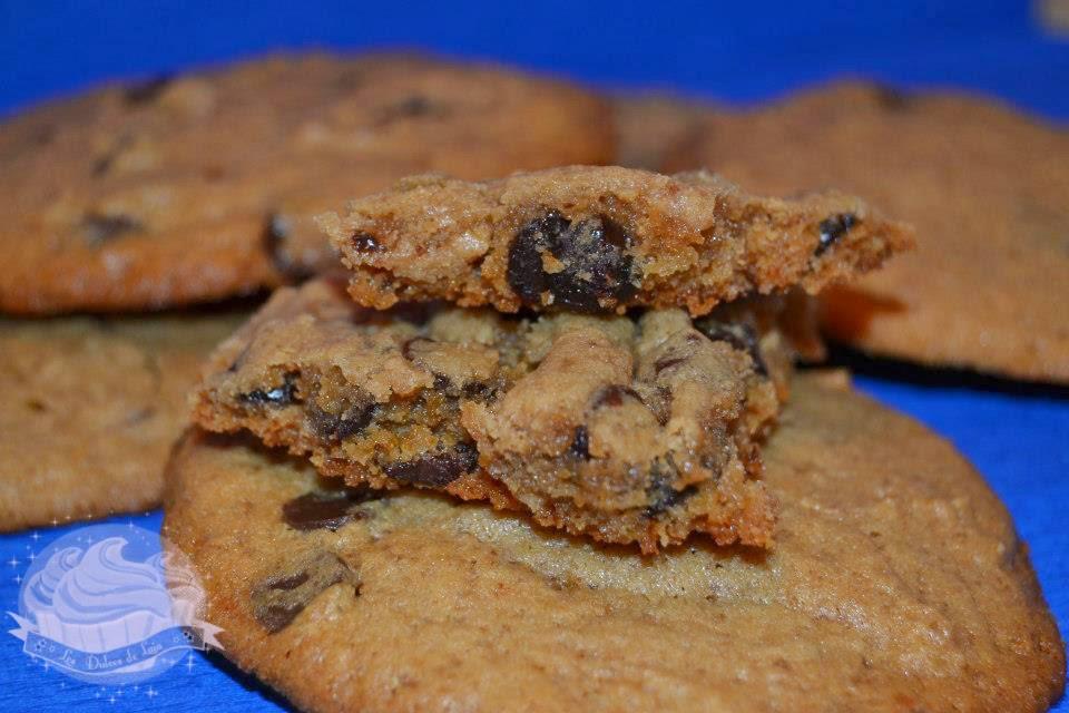 Sugerencia de presentación de las cookies de turrón jijona y gotas de chocolate