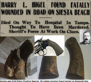 """The Smoking Gun Buried on Siesta Key"", Colt Revolver linked by Sheriff to Murder of Harry Higel"