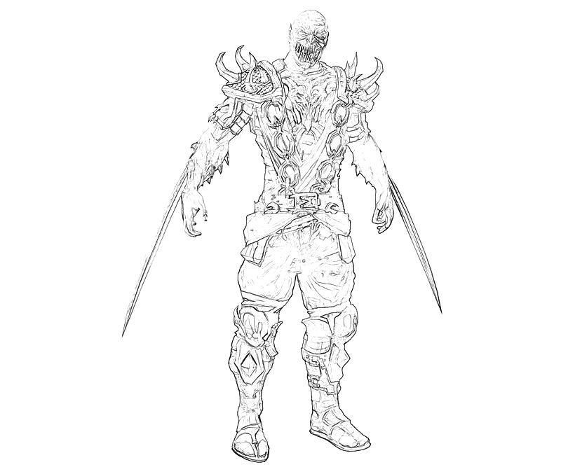 Mortal Combat Baraka Cartoon   Surfing