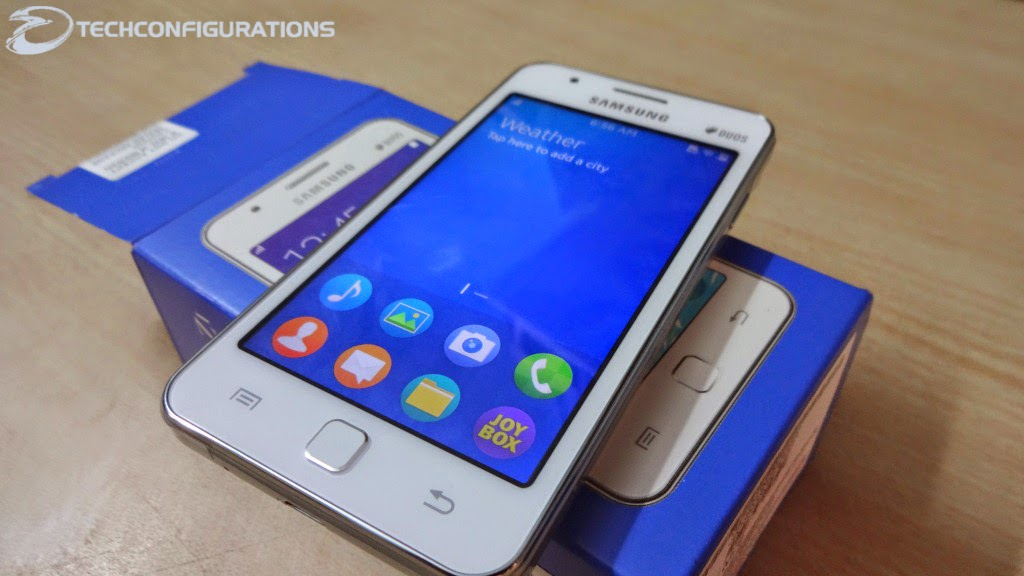 Samsung z1 hands on reviewunboxingtizen os tour pros and cons the design of the samsung z1 is not that is made to stay apart from galaxy series samsung have followed the conventional design algorithm in designbut ccuart Images