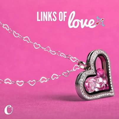 Links of Love Origami Owl Heart Locket and Chain from StoriedCharms.com