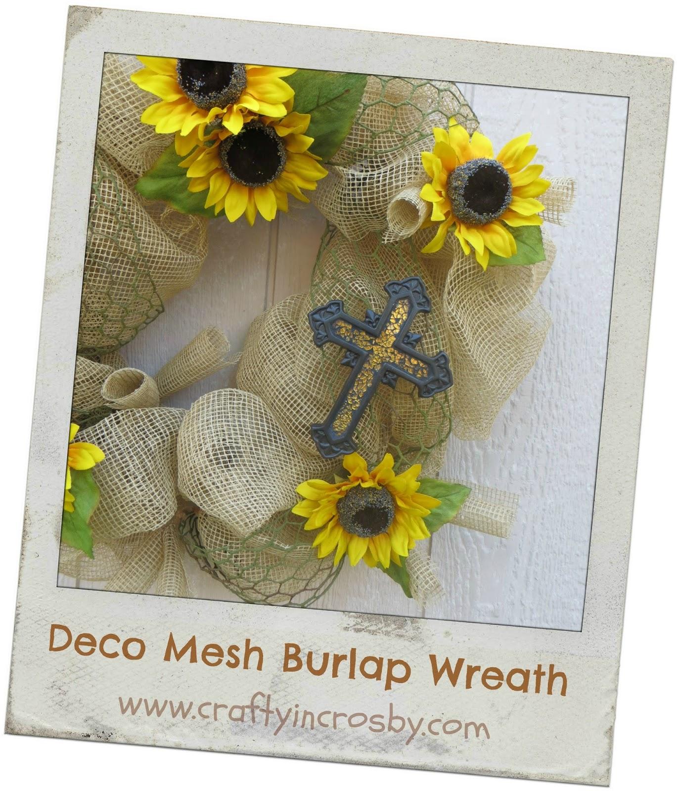 Crafty in Crosby: Summery Sunflower and Burlap Wreath