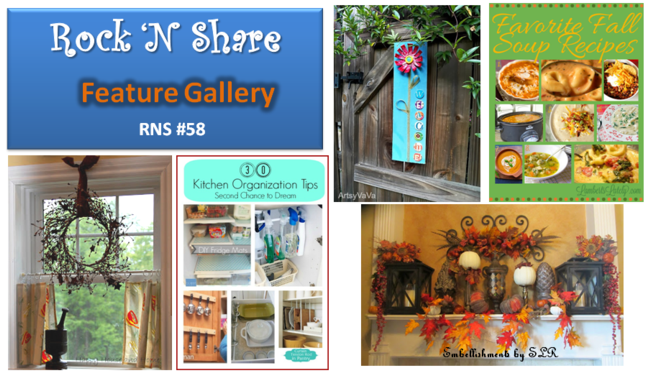 The Shady Porch Rock 'N Share #58 Featured Projects #linkyparty #linkyfeatures