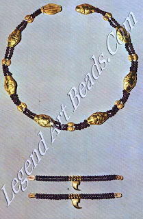 Gold leopard – head girdle and claw anklets of Princess Sit- Hathoor – Yunet, from Lahun