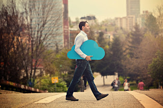 Man Holding Cloud