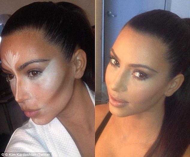 Beauty blogger Indonesia Raden Ayu Kim kardashian contour