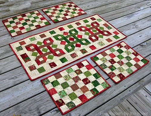 Table runner and placemats in Tis The Season by Connie Campbel