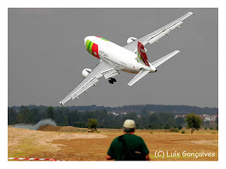 Portugal Air Show 2007 (Évora). The plane was an Airbus A310.