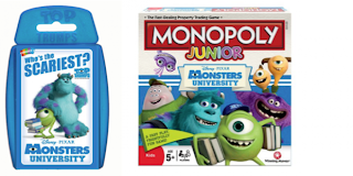 Monsters University, Top Trumps, Monopoly Junior