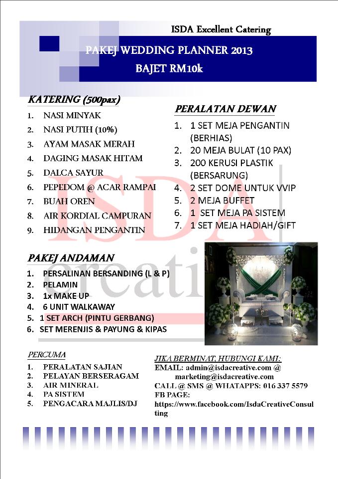 Pakej Katering Murah 2013 Dan Pakej Wedding Planner Promosi 2013