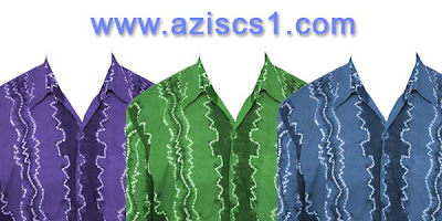 Template desain Baju Sasirangan