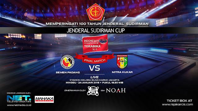 Semen Padang vs Mitra Kukar Final Piala Jenderal Sudirman 2016