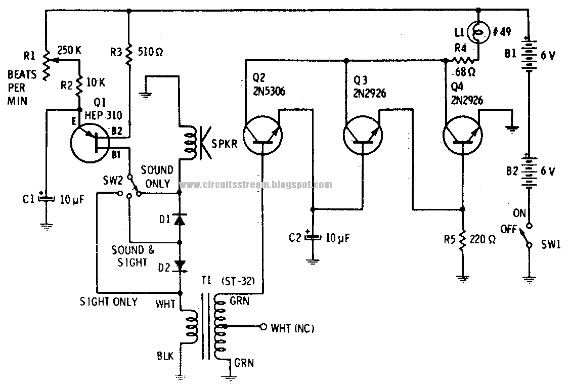 sight and sound metronome circuit diagram