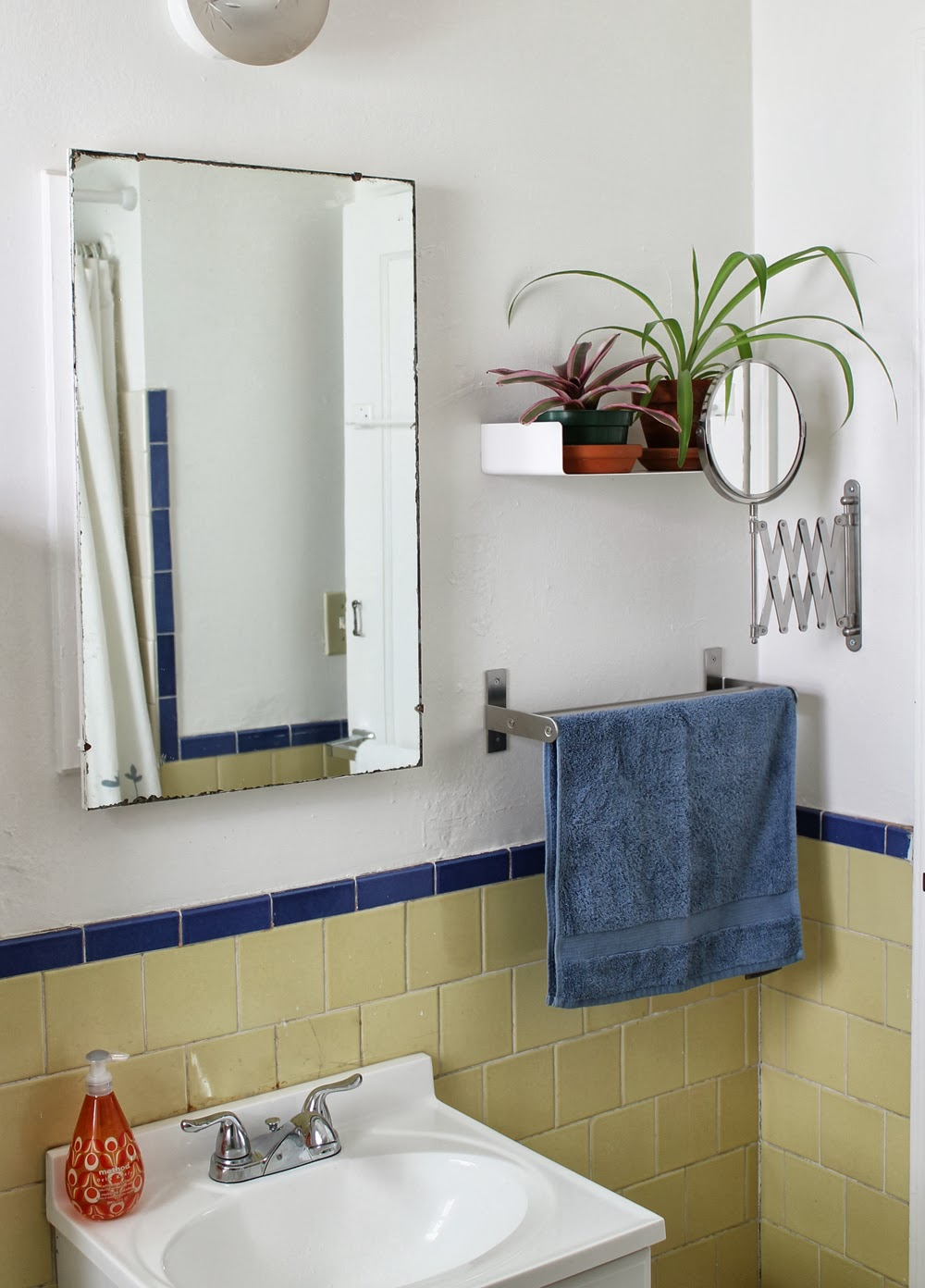 Pink Tile Bathroom Makeover Of the pink tile floor as