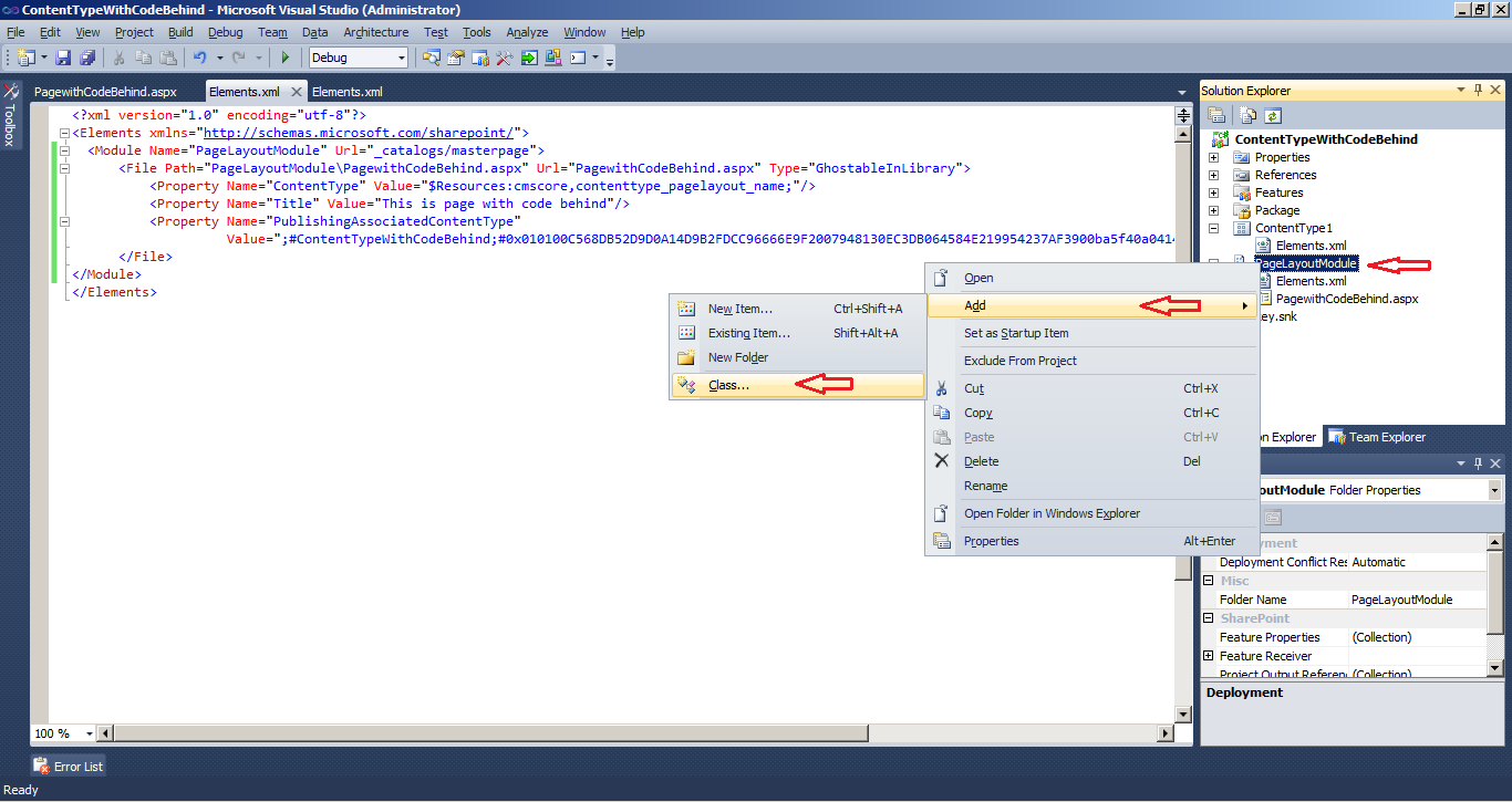 how to create publishing page in sharepoint 2010