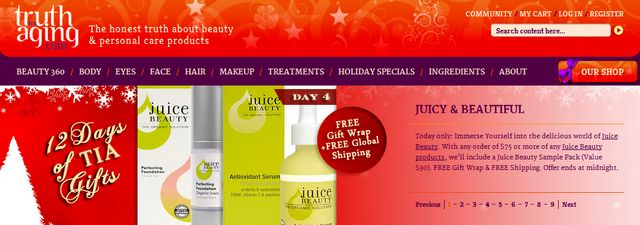 Face Creams christmas sale by TruthinAging.com