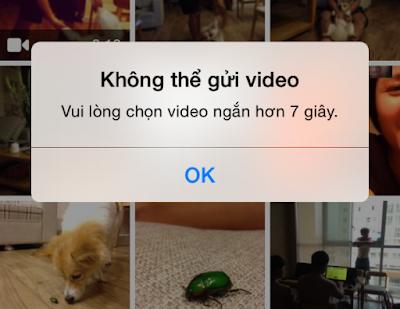 Lỗi upload video làm ảnh đại diện