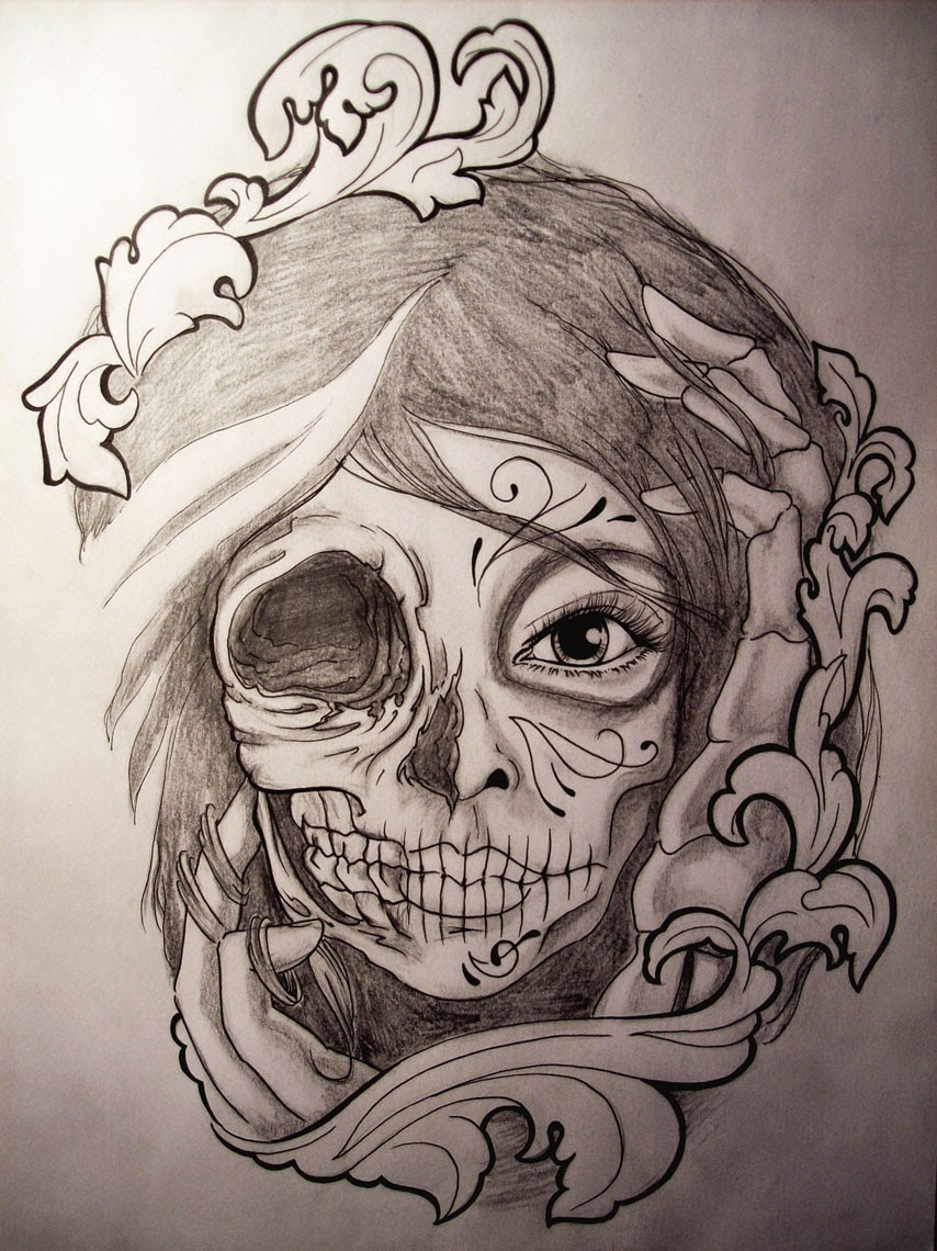 Pretty Catrina Tattoos Design
