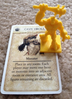 Cave Troll card and figure from Fantasy Flight Game