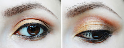 brown, copper makeup