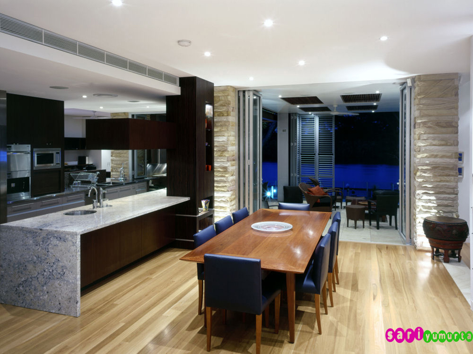 Кухня-гостиная-столовая дизайн