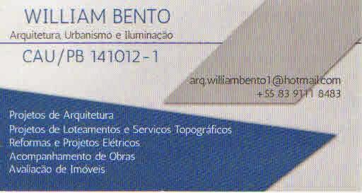 WILLIAM BENTO - Arquitetura, Urbanismo e Iluminação
