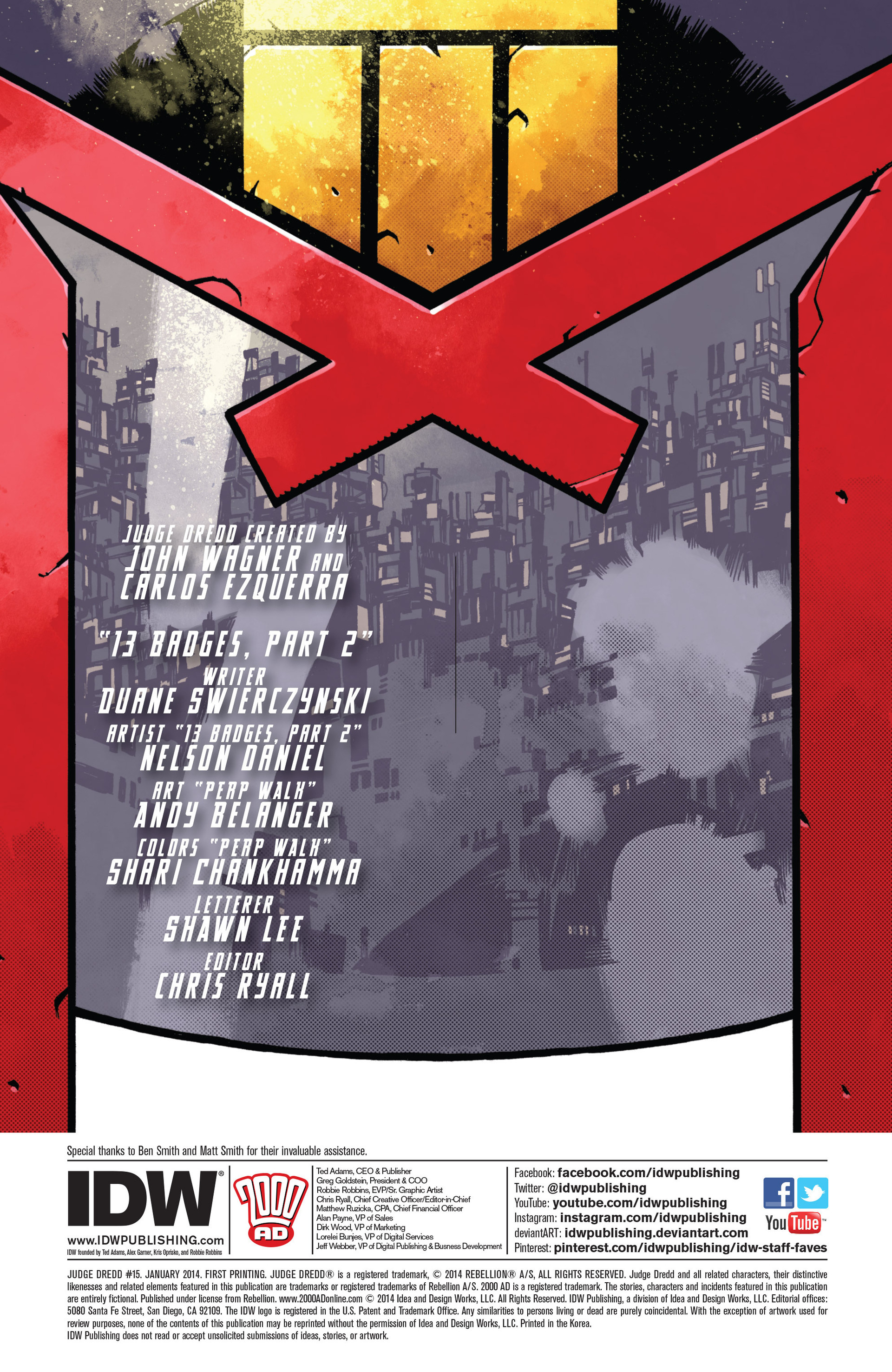 Read online Judge Dredd (2012) comic -  Issue #15 - 2