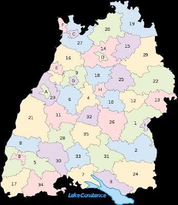Baden-Württemberg Karte Bundesländer