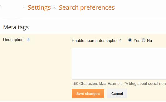 add Meta description to Blogger posts