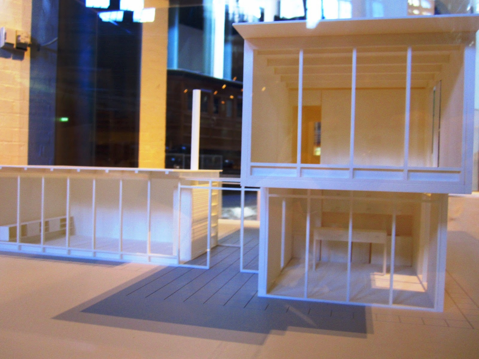 Model of Robyn Boyd's House of Tomorrow.