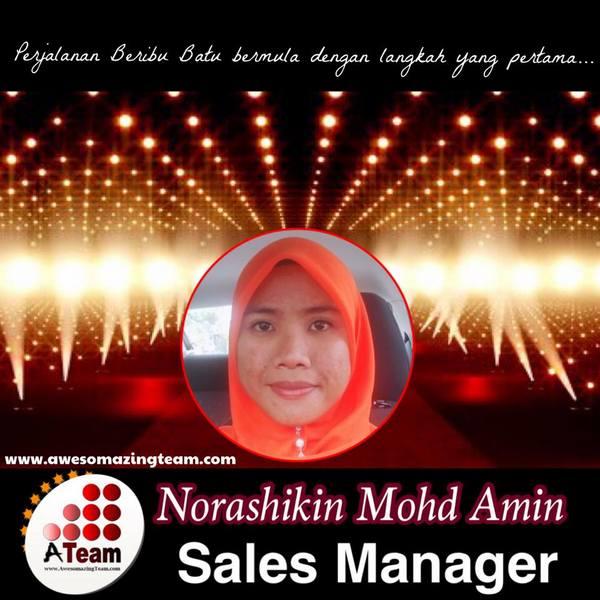 norashikin mohd amin digelar sales manager 2015