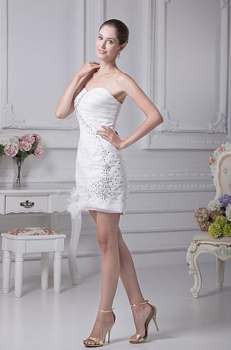 http://www.artweddings.com/sweetheart-rhinestoned-organza-sheath-mini-wedding-dress-with-flower-decor-awhswd4u259-en/