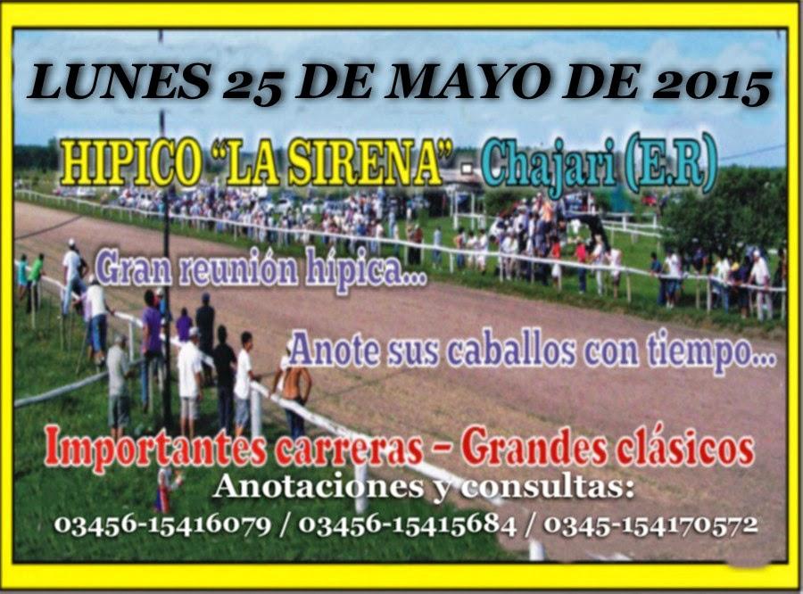 CHAJARÍ 25 DE MAYO