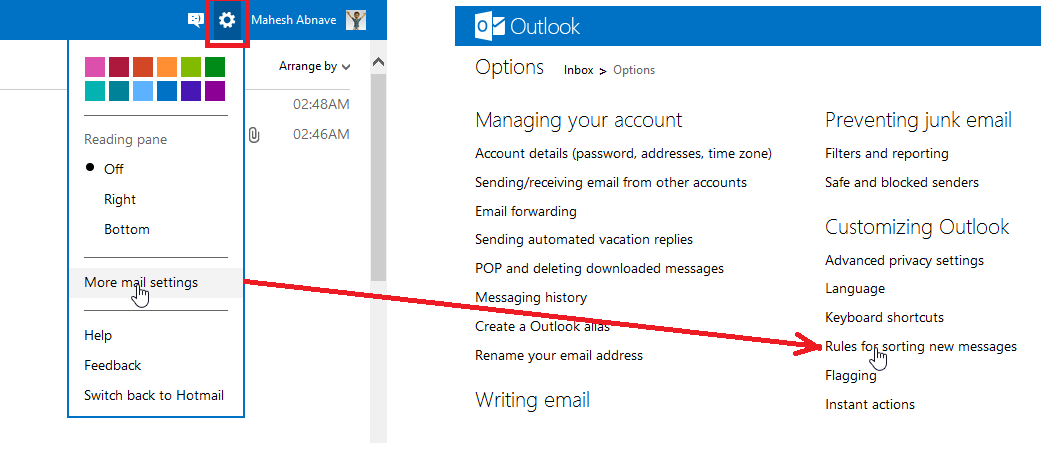 how to sweep delete in outlook