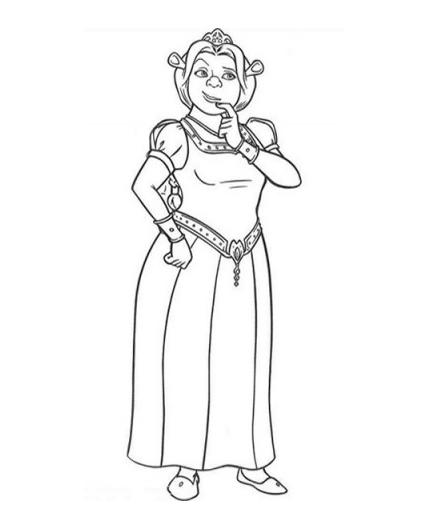 4 Free Princess Fiona Shrek Coloring Pages Princess Fiona Coloring Page Printable