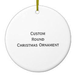 Custom Round Photo Christmas Ornament
