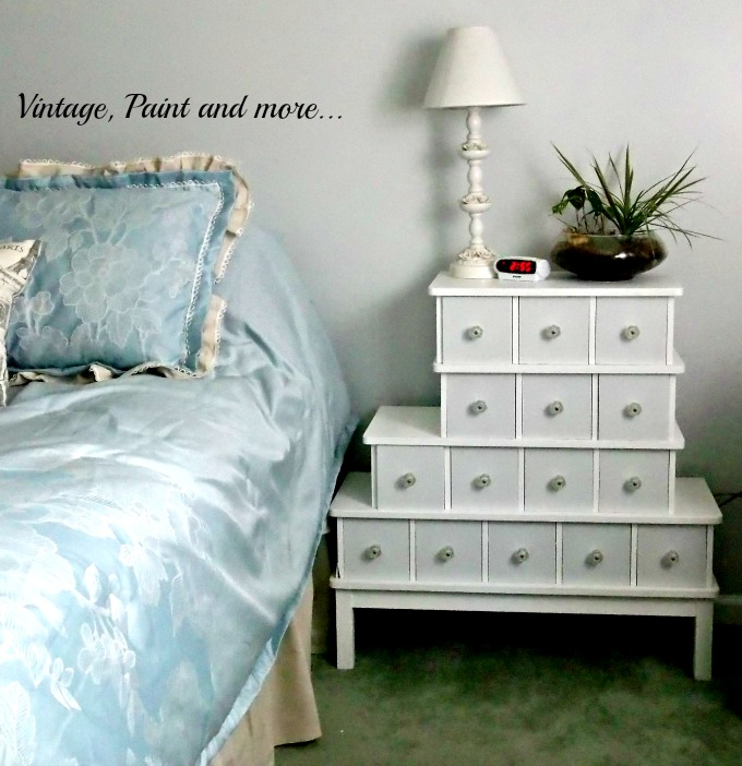 Vintage, Paint andmore... vintage cabinet used as night stand, diy chalk painted cabinet,