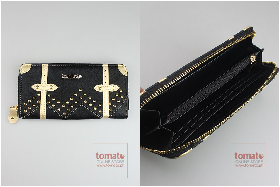 Studded wallet tomato