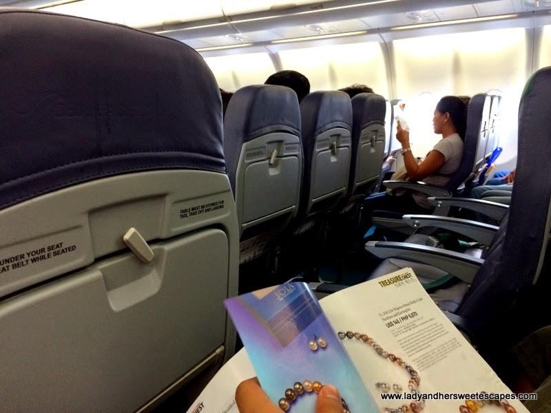 inside Cebu Pacific Dubai-Manila plane