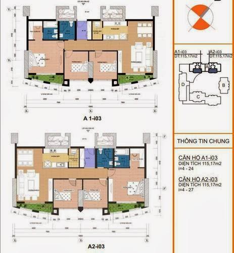 Mặt bằng căn hộ A2- i03 115,12m2