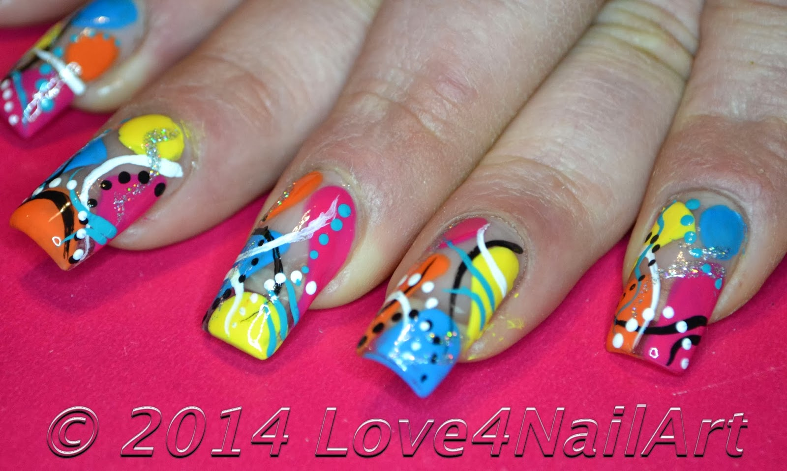 Love4nailart Super Fun And Colorful Abract Nail Art Design Idea