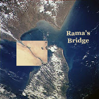Rama's bridge - highlighted