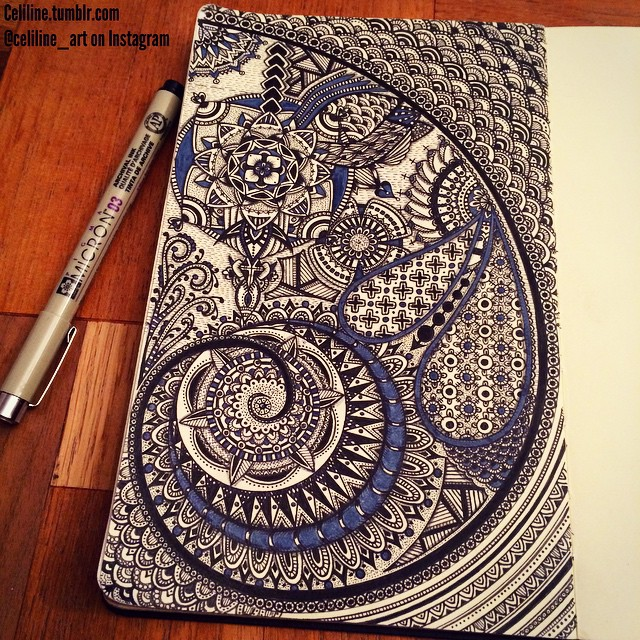 19-Celiline-Hand-Drawn-Zentangle-Doodles-Illustrations-Drawings-www-designstack-co